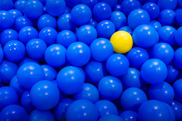 Yellow Ball with Blue Balls