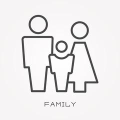 Line icon family