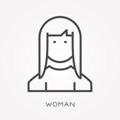 Line icon woman