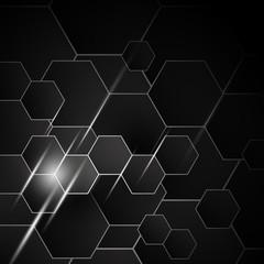 Vector abstract hexagon background design