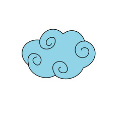 natural cloud with ornamental design