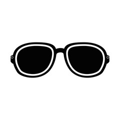 sunglasses icon over white background vector illustration