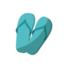sandals icon over white background vector illustration