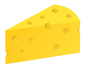 Piece of cheese vector eps 10