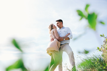 wedding couple, very nice sunset, a wonderful day for lovers, Beautiful nature