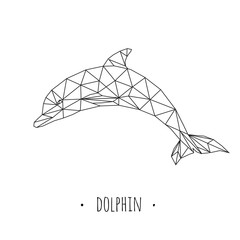 Dolphin stylized triangle polygonal model