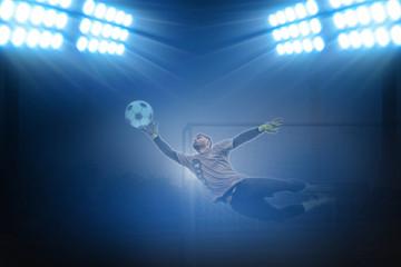 Man And Football Light