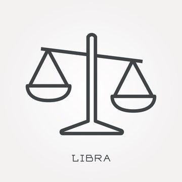 Line icon libra