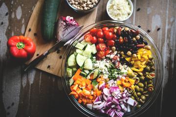 Mediterranean Bean Salad Wall mural