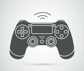 Simple vector gamepad icon. Joypad, joystick illustration isolated on white background