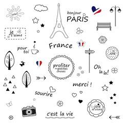 Paris sketch illustration