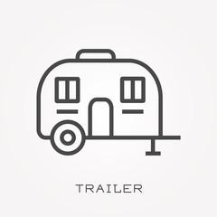 Line icon trailer