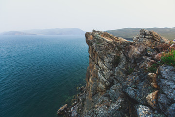 Beautiful View of famous Baikal Lake in Siberia, Russia, the largest freshwater lake by volume in the world, Olkhon Island