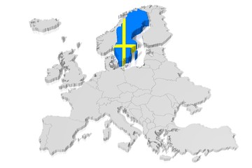 Search Photos Flag Of Sweden - Sweden map 3d