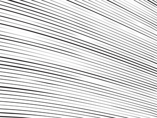 Abstract Perspective Line Art - Black Lines on White Background - Vector Illustration