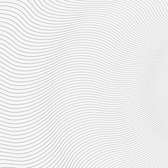 Abstract Grey Wavy Lines on White Vector Background