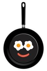 Vector frying pan