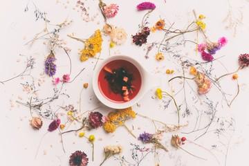 healthy organic tea with herbs