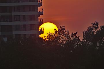 An urban sunset