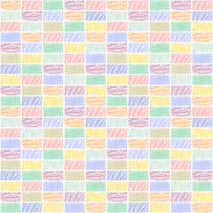 Seamless vector decorative pattern, repeat background with rectangles