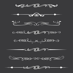 Dividers set,white on dark background,