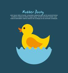 rubber ducky cartoon icon vector illustration design graphic
