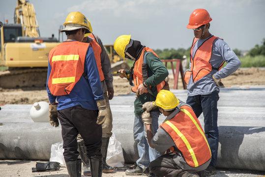 worker safety equipment team
