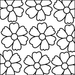 cute flowers decorative pattern vector illustration design