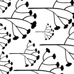 leafs plant decorative pattern vector illustration design