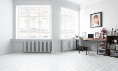 Möbliertes Wohnzimmer (Gestaltung)