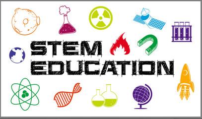 Poster design for stem education