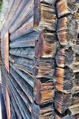 ściana, drewniana ściana, ściana z bali, rustikalny, deseń, tekstura,  architektura,  materiał, drewniane, stare drewno,