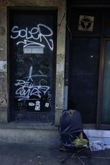 ストリート 壁の落書き