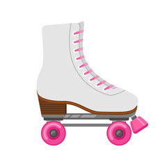 Roller skates isolated on white. Flat icon. Vector illustration.
