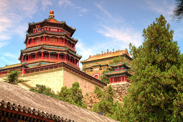 Foto auf Leinwand Beijing The Imperial Summer palace in Beijing, china. (HDR)