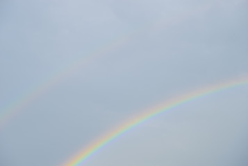 Two rainbow on the sky