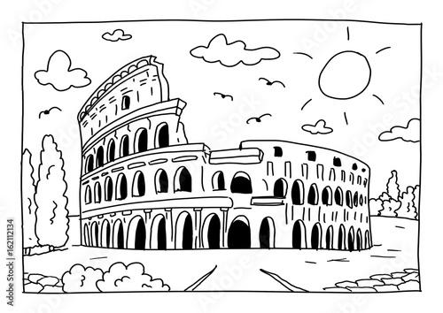 Ausmalbild Kolosseum In Rom Stockfotos Und Lizenzfreie Bilder Auf