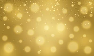 Golden blurred golden bokeh background