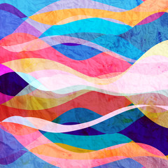 Abstract background of bright wavy design