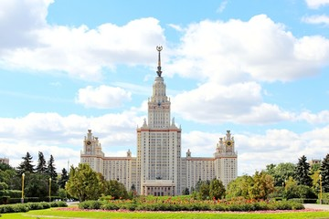 Stalin Skyscraper - Moscow State University in Moscow, Russia