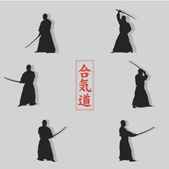 Images of men with a sword.