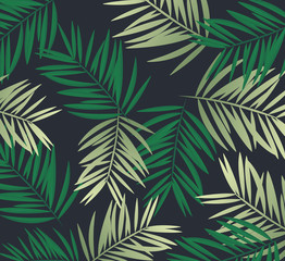 Background palm coconut bamboo tree leaf nature background, banner voucher, spring summer tropical, vector illustration