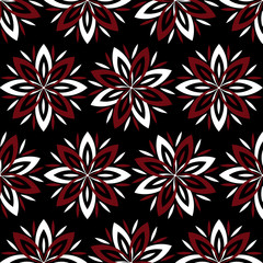 Modern stylish floral flower pattern for textile, wallpaper, pattern fills, covers, surface, print, gift wrap scrapbook decoupage Seamless abstract dark classic pattern