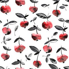 Cherry berries pattern