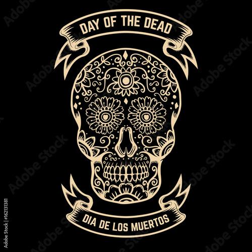 Day of the dead dia de los muertos sugar skull with floral pattern day of the dead dia de los muertos sugar skull with floral pattern m4hsunfo
