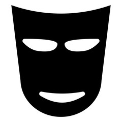 Theater mask  the black color icon .