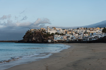 Dorf, Küste, Ort, Kirche, Urlaub, Strand