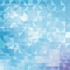 Blue White Mosaic Background, Vector illustration