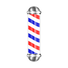 Barbershop pole isolated