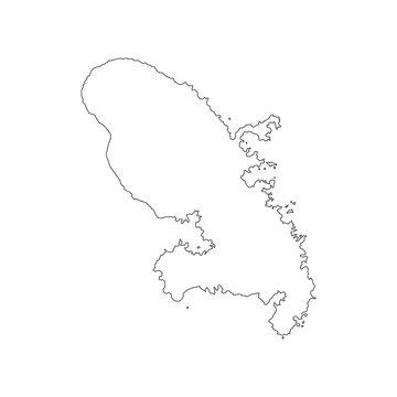 Martinique map outline